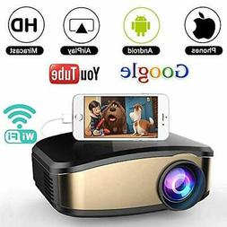 WiFi Movie Projector, WEILIANTE 50% Brighter LED Portable Mi