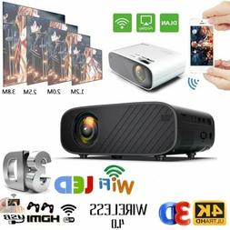 WiFi Wireless Home Theater 4K 3D LED Projector Android 6.0 B