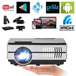 Wireless Mini Projector LED LCD- 1500 Lumens 1080P Multimedi