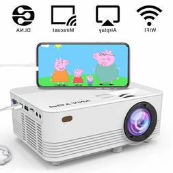 Wireless Projector POYANK 2400Lumens LED Wireless Mini Proje