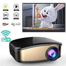 WiFi Projector for Smartphones, WEILIANTE Portable Mini LED