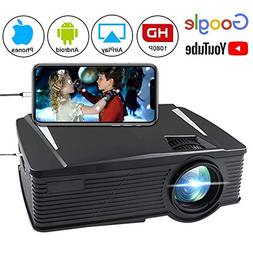 Wireless Projector 2200 Lumen, WEILIANTE WiFi LCD Mini Movie
