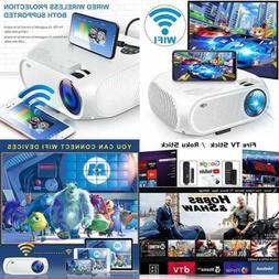 Wireless Wifi Movie Projector 2020 Upgraded DIWUER Mini Vide