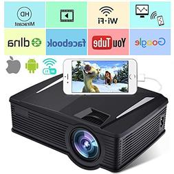 Wireless WiFi Projector,Weton 2200 Lumen Mini Movie Projecto