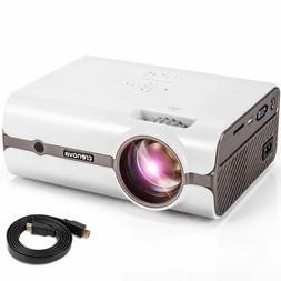 CRENOVA XPE496 Mini Projector, Full HD 1080P and 170'' Displ