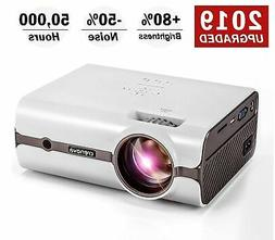 CRENOVA XPE496 Mini Projector, Full HD 1080P and 170'' Displ