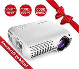 Crenova XPE660 Upgraded Home Entertainment Video Projector -