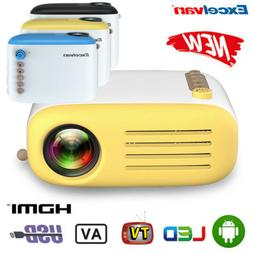 Excelvan YG200 50LM Mini Projector Support 1080P USB HDMI Ho