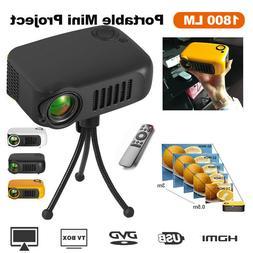 A2000 HD 1080P LED Mini Projector USB SD Home Theater Cinema