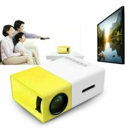 YG300 HD1080P LED Mini Projector Portable Home USB AV SD The