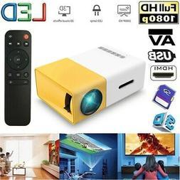 YG300 Mini Pocket LED Projector 1080P USB HD AV Home Theater
