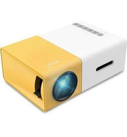 YG300 Mini Portable Multimedia LED Projector HD 1080P Home T