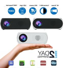 YG320 Portable Mini 1080P 3D WIFI 600 Lumens LED Projector H