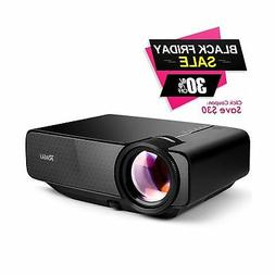 "RAGU Z400 Mini Projector, 2018 Upgraded  180"" 1080P HD Home"