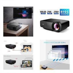 "RAGU Z400 Mini Projector, 2018 Upgraded  180"" 1080P HD Home"