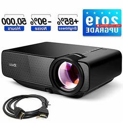 """RAGU Z400 Mini Projector, 2019 Upgraded Full HD 1080P 180"""" D"""