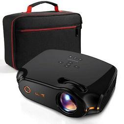 """RAGU Z498 Mini Projector, 2019 Upgraded Full HD 1080P 180"""" D"""