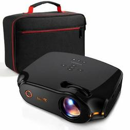 """RAGU Z498 Mini Projector 2019 Upgraded Full HD 1080P 180"""""